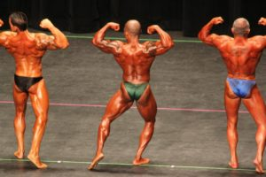 Craig Tinnelle, competitive bodybuilder, on stage